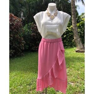 J. Crew | tulip hem skirt with pleated ruffle